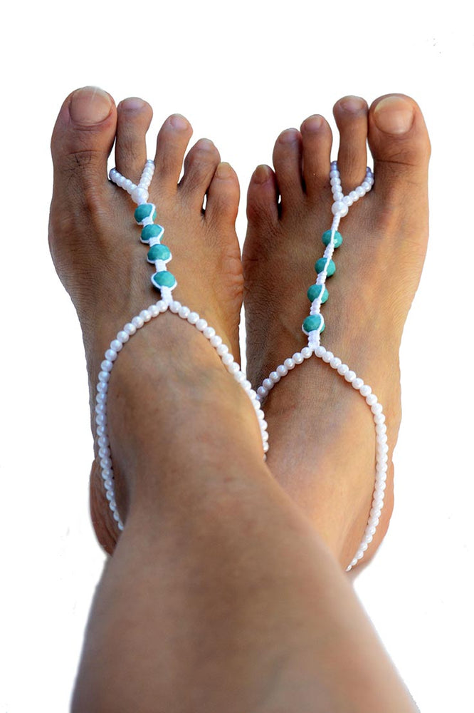 Achelois Beach Wedding Barefoot Sandals_02