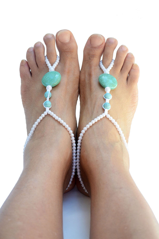 Alectrona Beach Wedding Barefoot Sandals