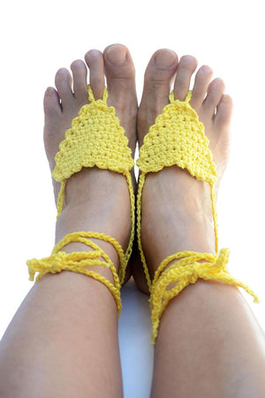 Anaitis Barefoot Sandals Yellow
