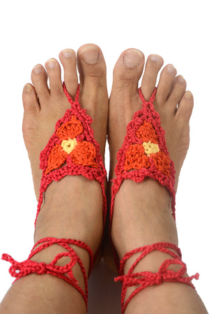 Castalyia Barefoot Sandals_Red