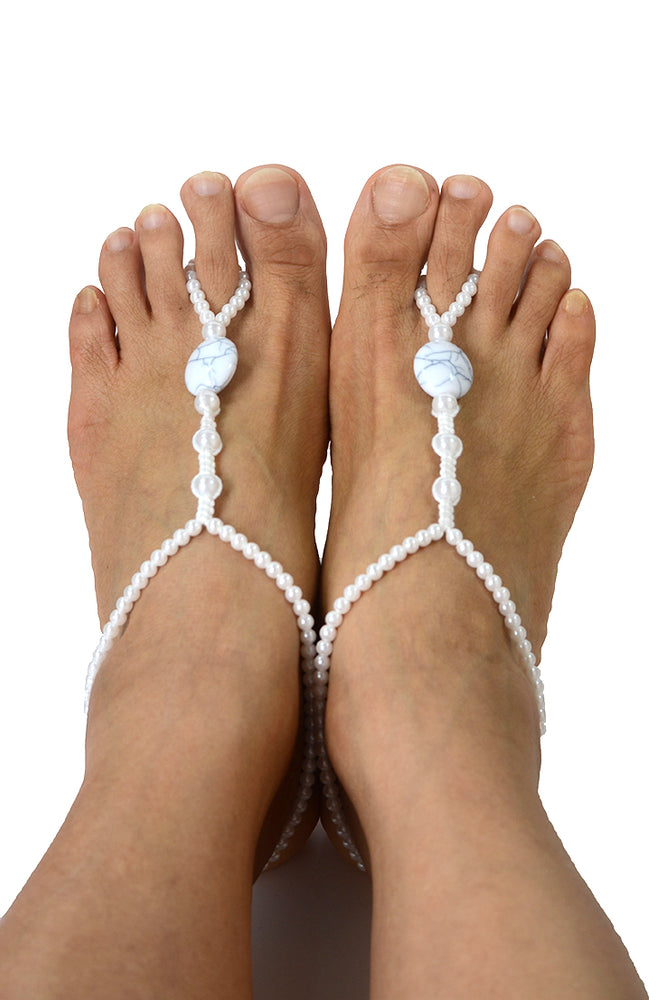 Hera Beach Wedding Barefoot Sandals