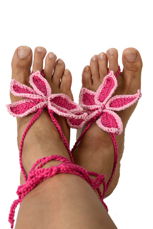 Persephone Barefoot Sandals Pink