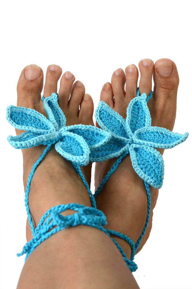 Persephone Barefoot Sandals Teal