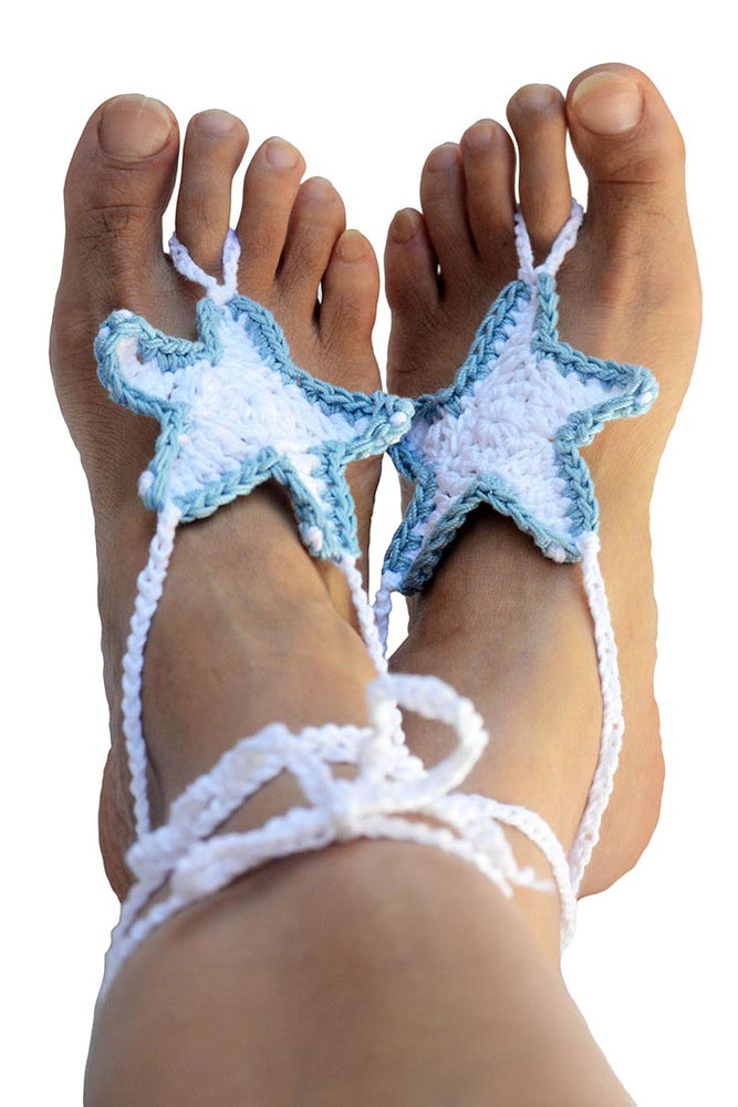Starfish Barefoot Sandals_White02
