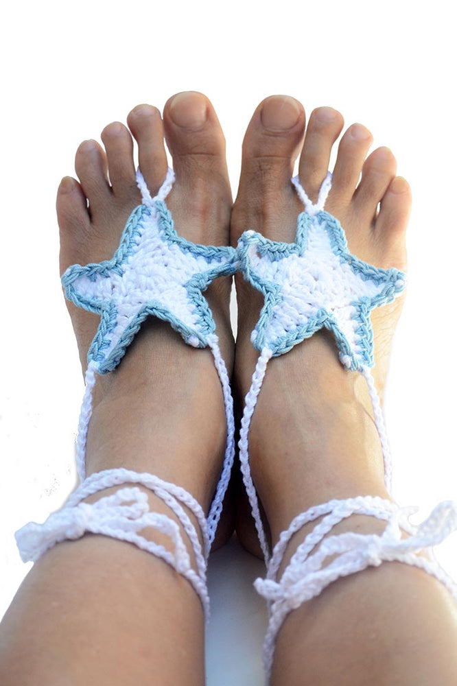 Starfish Barefoot Sandals White