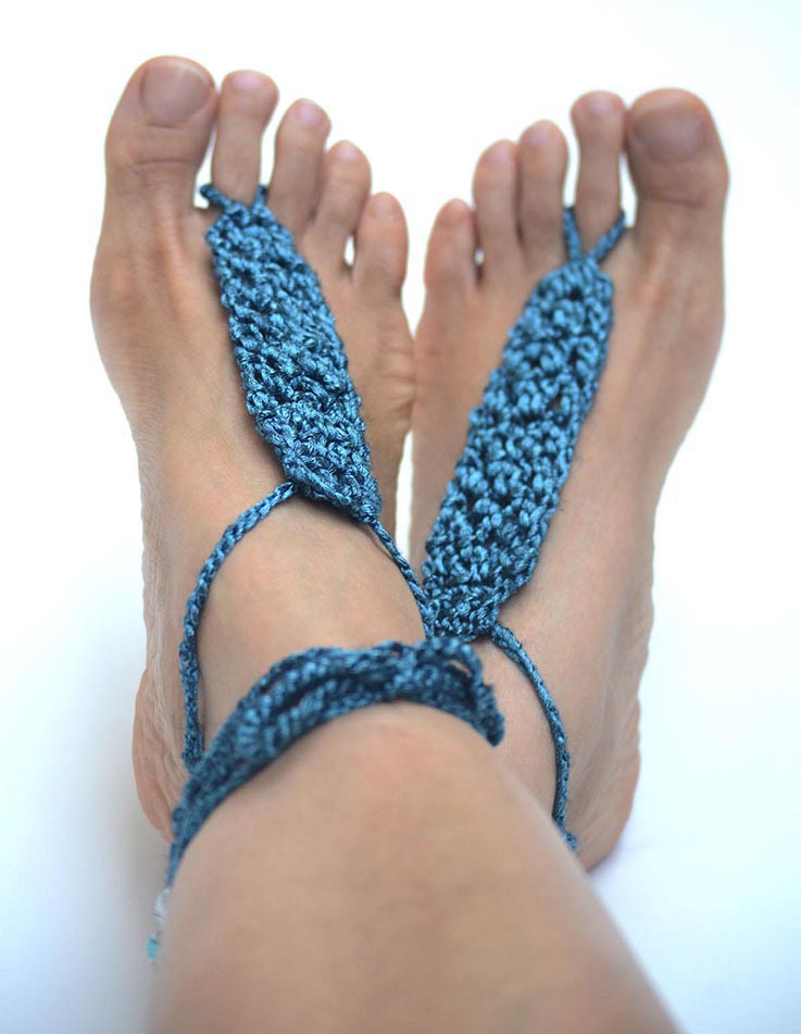 Theia Barefoot Sandals Teal_02