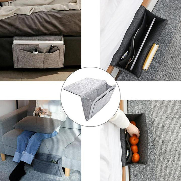 Bedside Storage Bag with Pocket