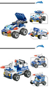 8 IN 1 Robot Aircraft Car City Police SWAT Building Blocks Toys - Shop-bestdealz