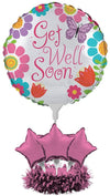 Creative Converting Get Well Soon Balloon Centerpiece Kit, Flowers and Butterflies - Shop-bestdealz