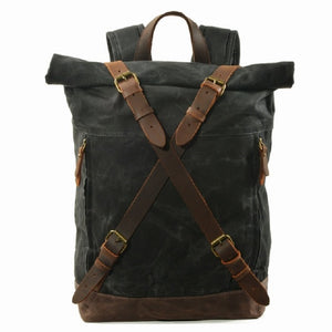 Open image in slideshow, Leather Backpack Daypack