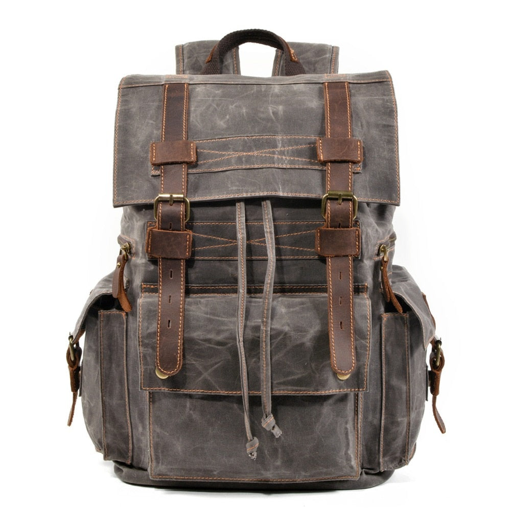 Leather Military Backpack