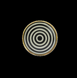 Black/Ivory Concentric Circles Small Bullet Bowl