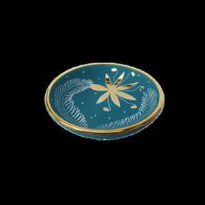 Turquoise/Gold Thistle Small Bullet Bowl