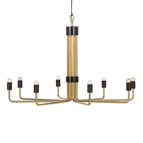 Le Marais Chandelier - 8 Light / Brass / 120v US