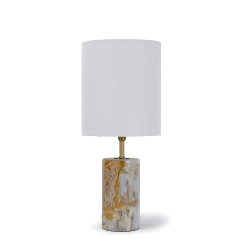 Jade and Brass Mini Cylinder Lamp