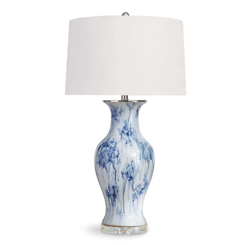 Veranda Ceramic Table Lamp (Blue)