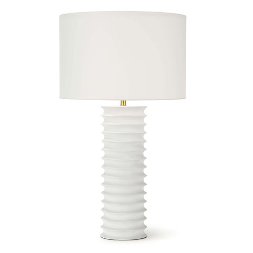 Nabu Metal Column Table Lamp (White)