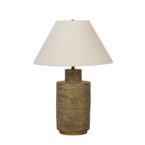 Ceramic Fez Lamp - Gold / 120V Us