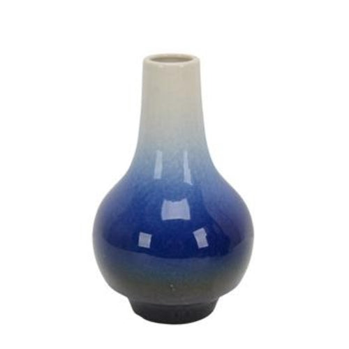 White/Blue Ombre Vase 10