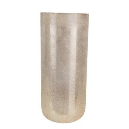 16.25 Glass Beaded Vase, Silver