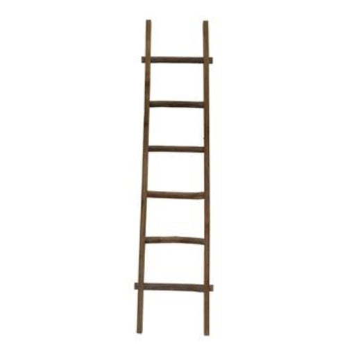 Wooden Decorative 76 Ladder, Brown