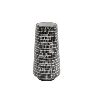 Ceramic Vase 12, Black Cobblestone