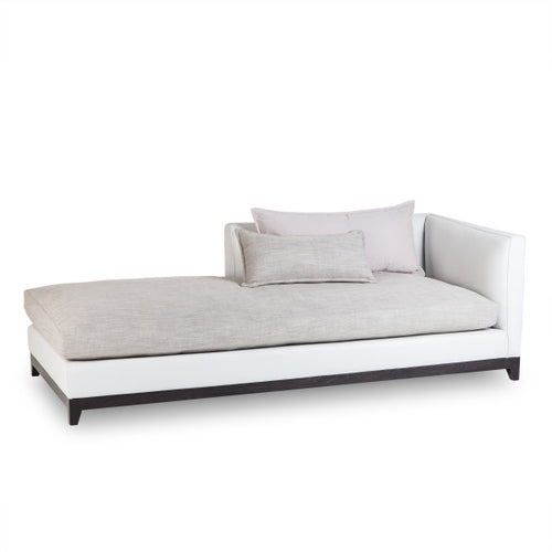 Jackson Chaise - Right Arm Facing / Fallon White Leather