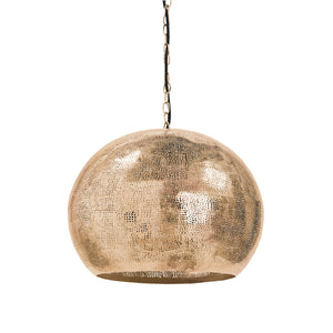 Pierced Metal Sphere Pendant (Natural Brass)