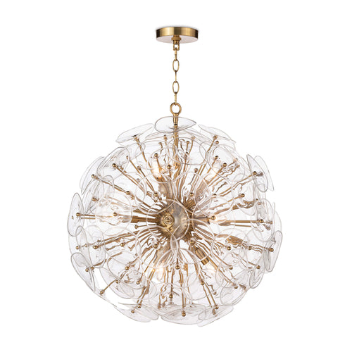 Poppy Glass Chandelier Small (Clear)