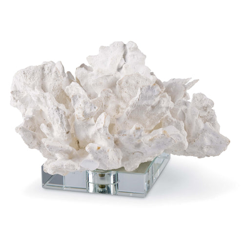 Flower Coral On Crystal Base (White)