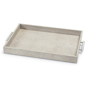 Shagreen Rectangle Tray (Ivory Grey)