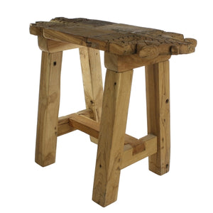 Portico Salvaged Wood Stool