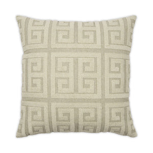 Greek Key Natural 24x24 Pillow