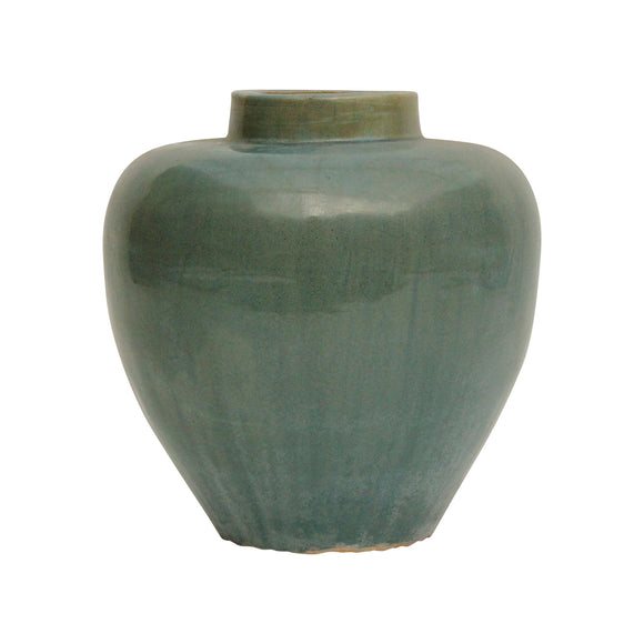Green Vintage Style Vase with Tapered shape