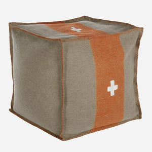 Swiss Army Pouf 24x24x13 Grey/Orange