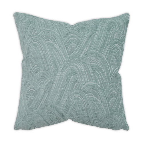 Hidden Hills Aqua 22x22 Pillow