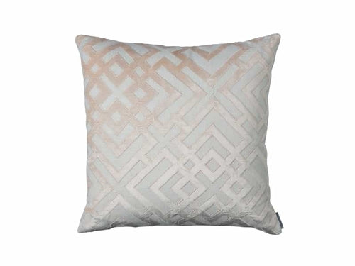 Karl Sq. Pillow / Ivory Basket Weave / Blush Velvet 24X24