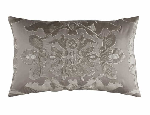 Morocco Sm. Rect. Pillow / Taupe S&S / Fawn Velvet 14X22