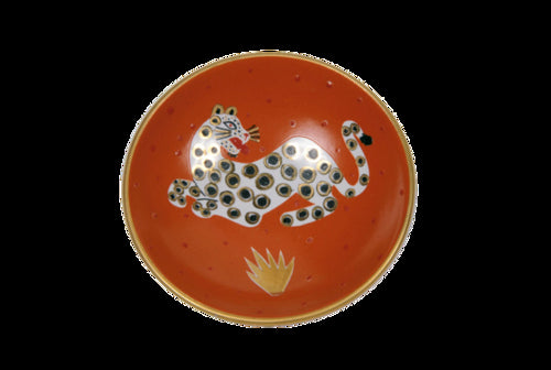Orange Leopard Small Bullet Bowl