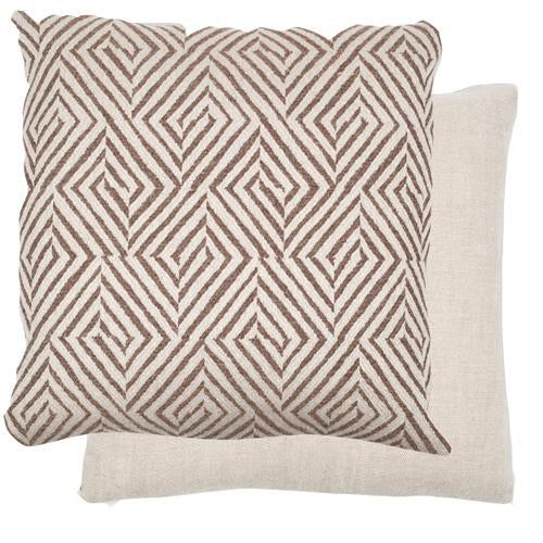 Jamie Walnut / Flax 22x22 Pillow