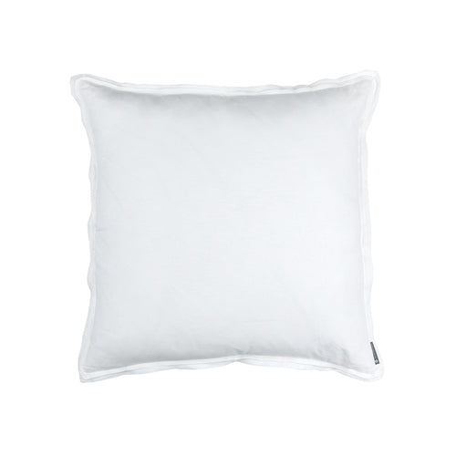Bloom Euro Double Flange Pillow White Linen 26X26