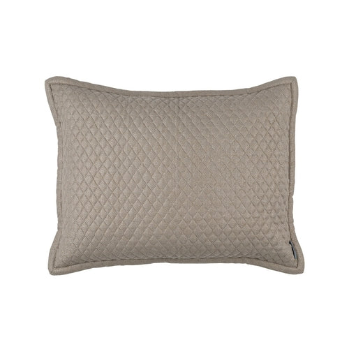 Laurie Diamond Quilted Standard Pillow/Stone Basketweave 20 X 26