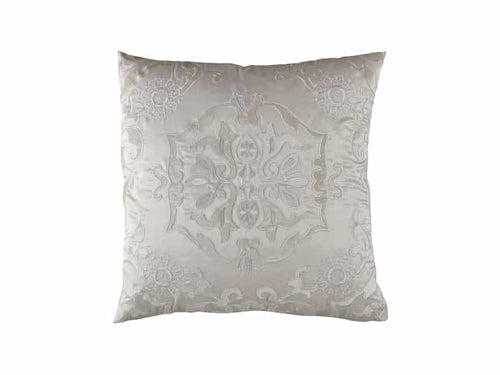 Morocco Decorative Pillow Ivory S&S/ Ivory Velvet