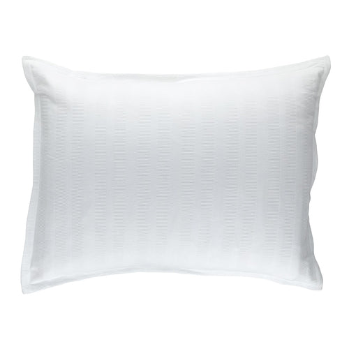 Stela Luxe Euro Pillow 100% White Cotton Matelass 27X36