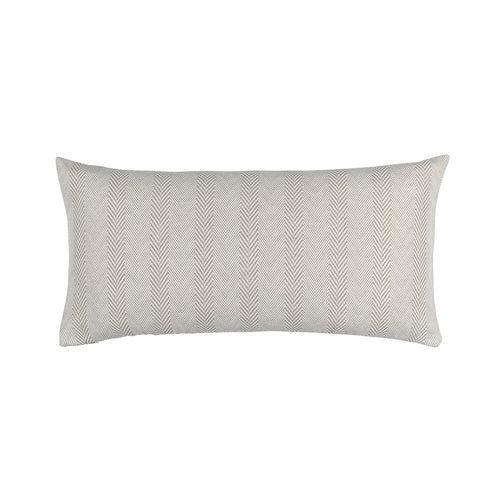 Chevron Lg. Rect. Pillow Raffia/White Cotton/Linen 14X29