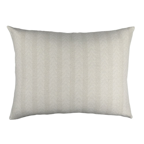 Chevron Luxe Euro Pillow Raffia/White Cotton/Linen 26X35