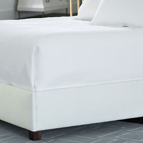 Retro King Coverlet/White Cotton 112 X 98