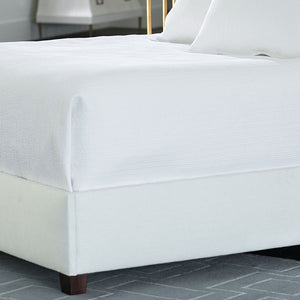 Retro Queen Coverlet/White Cotton 96 X 98