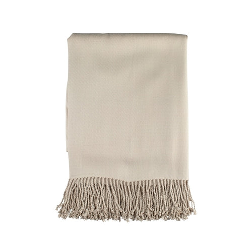 Pasha Throw Bamboo/Rayon Oyster With 4 In. Fringe 50X70