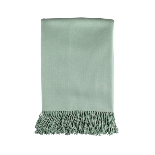 Pasha Throw Bamboo/Rayon Sea Foam With 4 In. Fringe 50X70